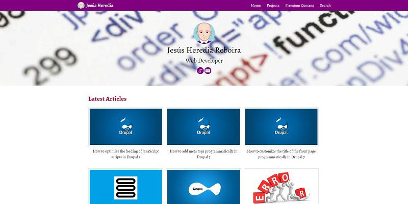 Jesus Heredia's personal website